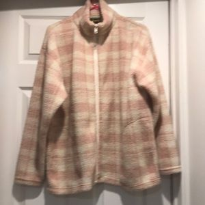Limited Sport Fleece Pink Plaid Jacket Vintage